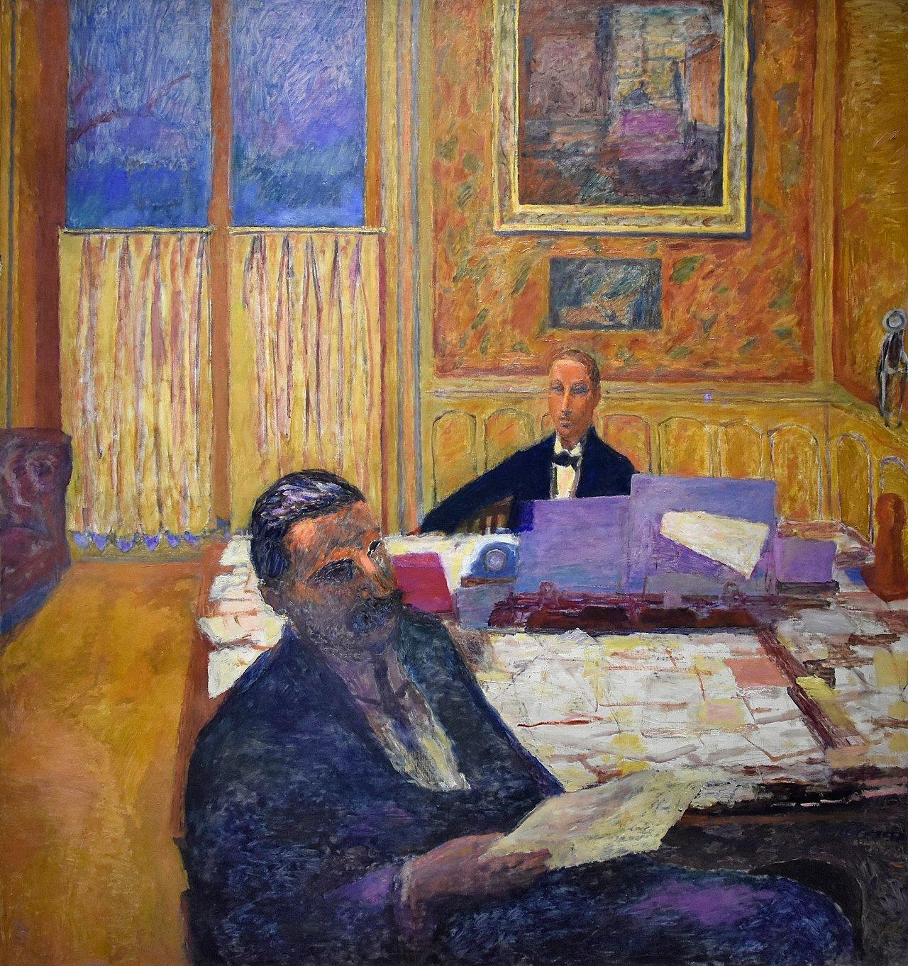 Pierre Bonnard (1867-1947), The brothers Bernheim Jeune, oil on canvas, 166 x 155 cm, Musée d'Orsay, Paris. Fonte Wikimedia Commons