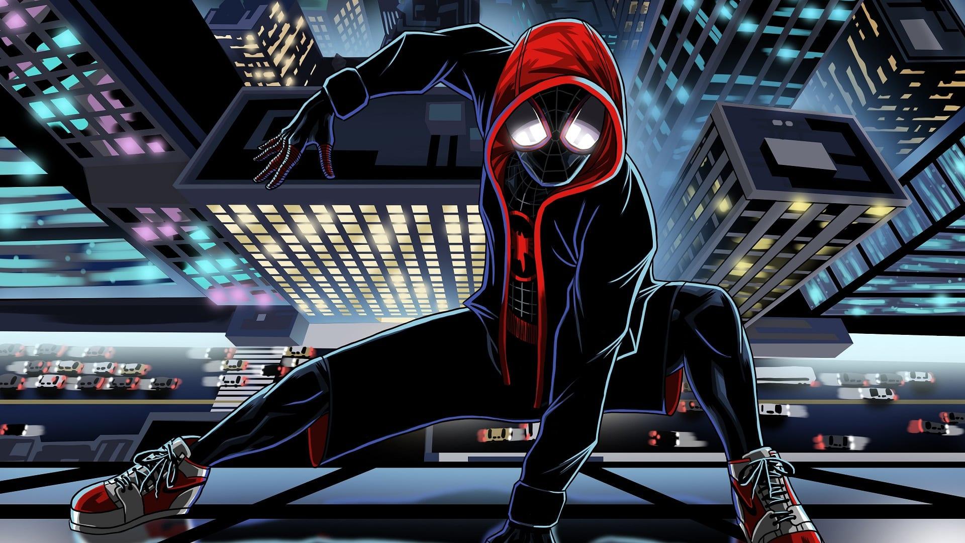 Scarica sfondi spiderman muro supereroi uomo ragno per desktop