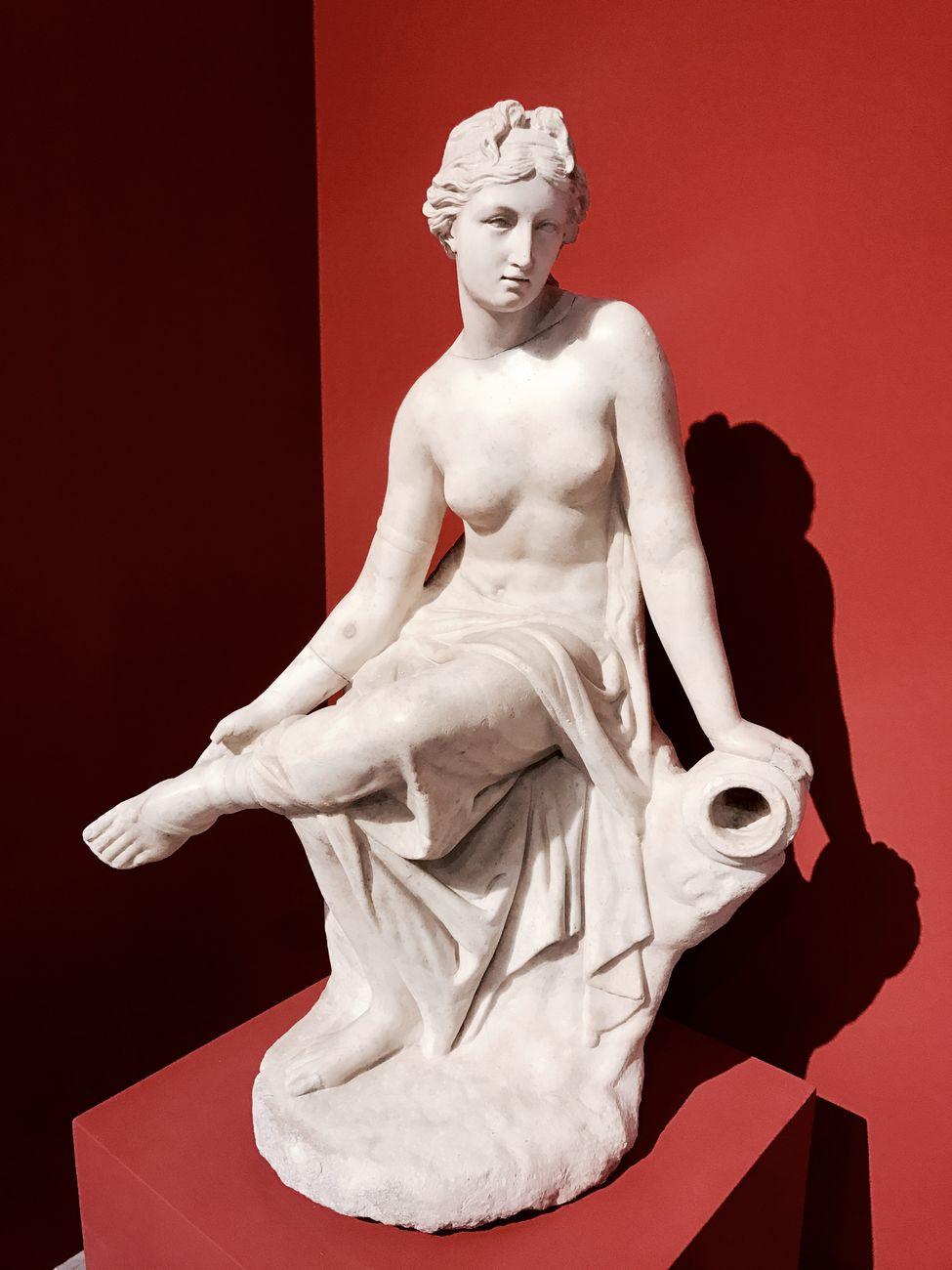 Statua di ninfa in marmo, I sec d.C. Photo Helga Marsala. Museo Archeologico Regionale Antonino Salinas, Palermo