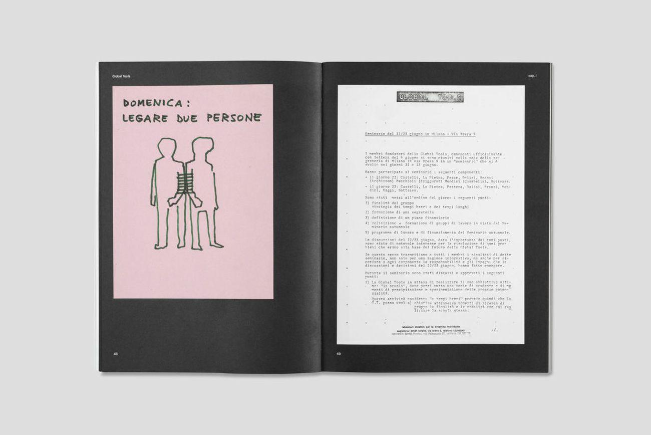 Valerio Borgonuovo e Silvia Franceschini (a cura di) ‒ Global Tools 1973 1975. Quando l'educazione coinciderà con la vita (Nero Editions, Roma 2018)