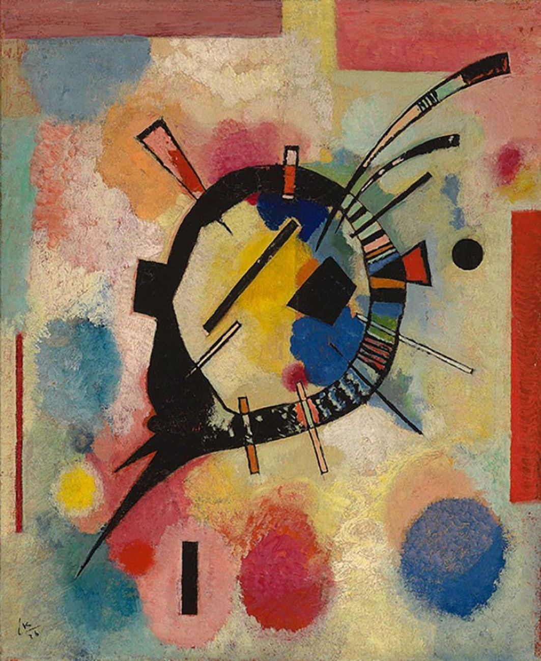 Wassily Kandinsky, Gelbe Mitte, 1926. Museum Boijmans Van Beuningen, Rotterdam. Photo Studio Tromp