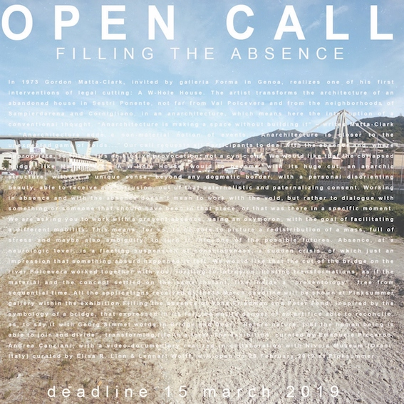 Open call Filling the Absence