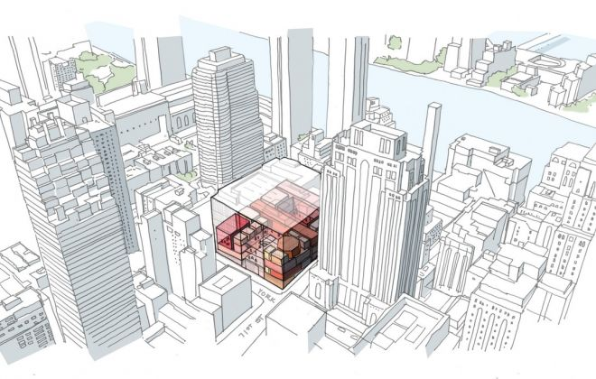 Sotheby's NY, Aerial Sketch. Credit OMA New York
