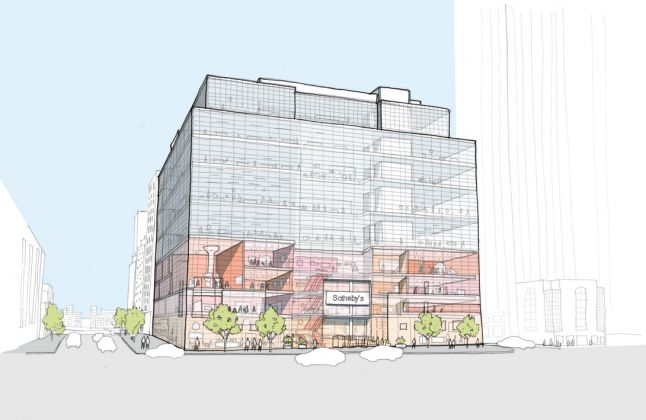 Sotheby's NY, Exterior Sketch. Credit OMA New York