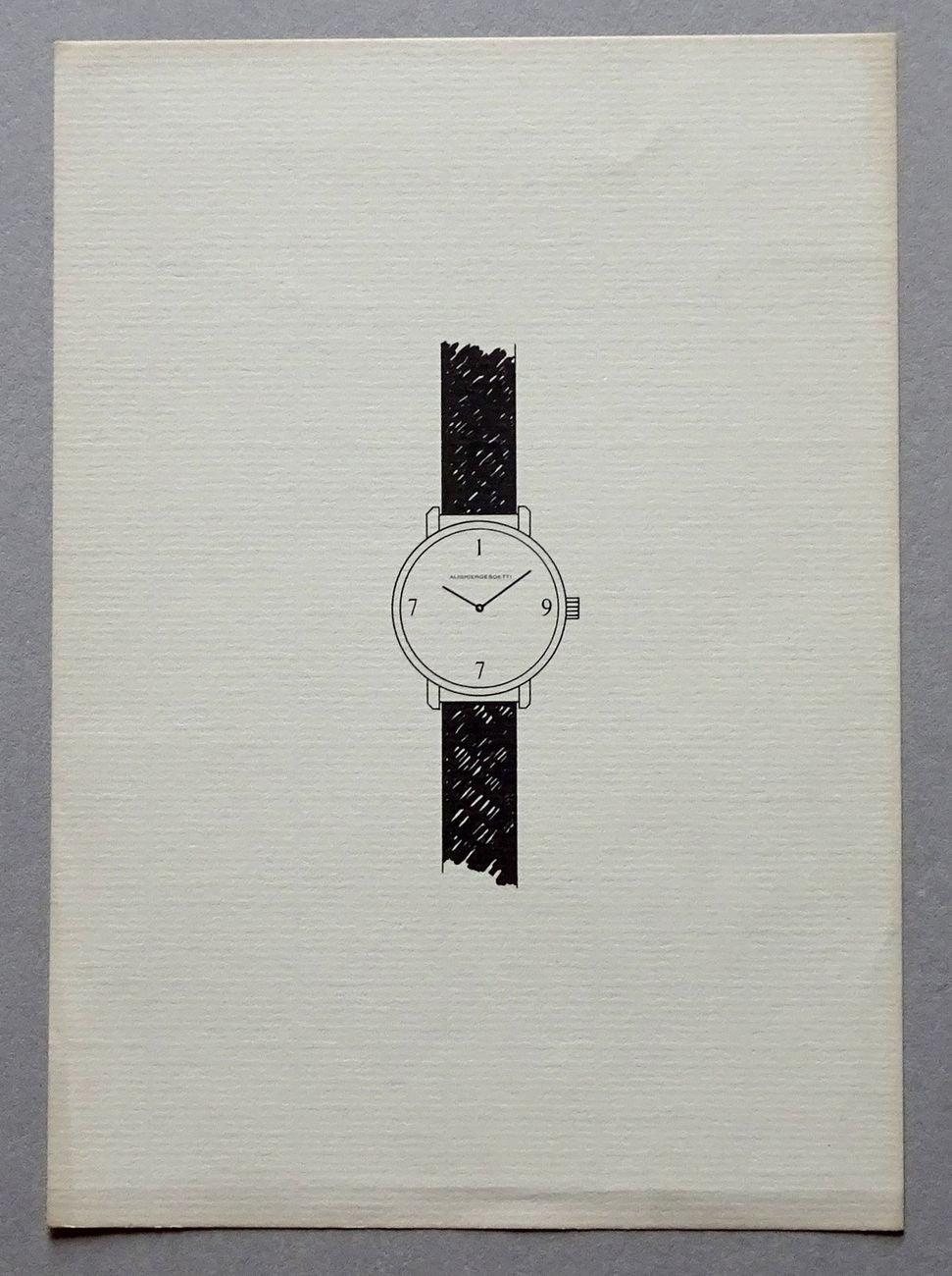 Alighiero Boetti. L'orologio annuale, 1977, invito. Archivio Beatrice Monti della Corte
