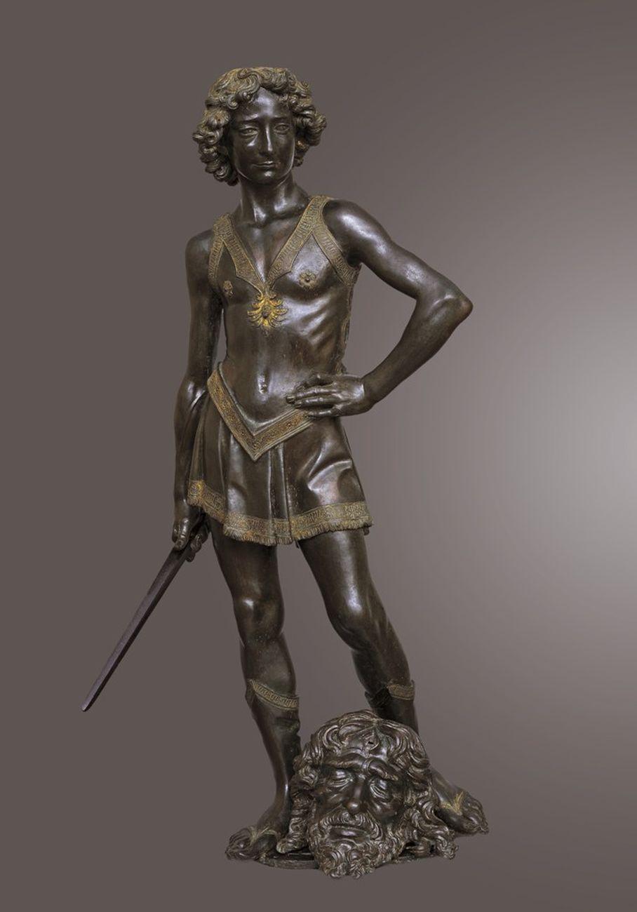 Andrea del Verrocchio, David vittorioso, 1468-70. Museo Nazionale del Bargello, Firenze. Su concessione del MiBAC