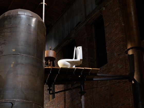 Atelier Van Lieshout, Blast Furnace, 2013. Installation view at Pioneer Works, New York 2019. Photo © Dan Bradica