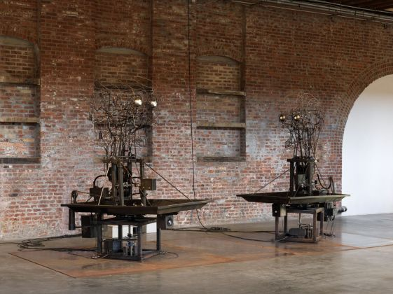 Atelier Van Lieshout, The Mechanical Turks, 2015. Installation view at Pioneer Works, New York 2019. Photo © Dan Bradica