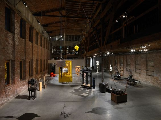 Atelier Van Lieshout. The CryptoFuturist and The New Tribal Labyrinth. Installation view at Pioneer Works, New York 2019. Photo © Dan Bradica
