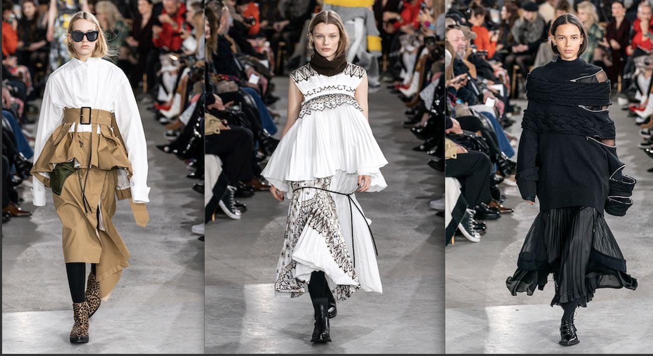 Chitose Abe per Sacai. Parigi Fashion Week, febbraio 2019