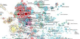 Coexhibition network. Da Quantifying reputation and success in art, S. P. Fraiberger et al., Science, 10.1126_science.aau7224 (2018)