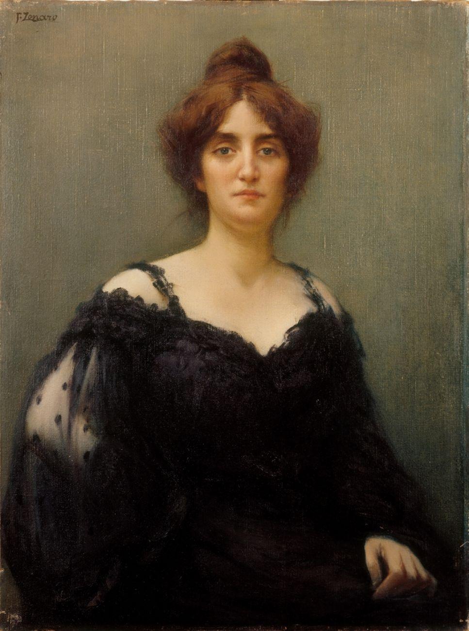 Fausto Zonaro, Mia moglie Elisa, 1904. Eredi Zonaro, Firenze