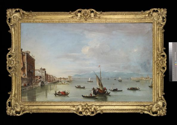 Francesco Guardi, Fondamenta Nuove con l'isola di San Michele, olio su tela, cm 72 x 120. Oxford, Ashmolean Museum of Art and Archaeology
