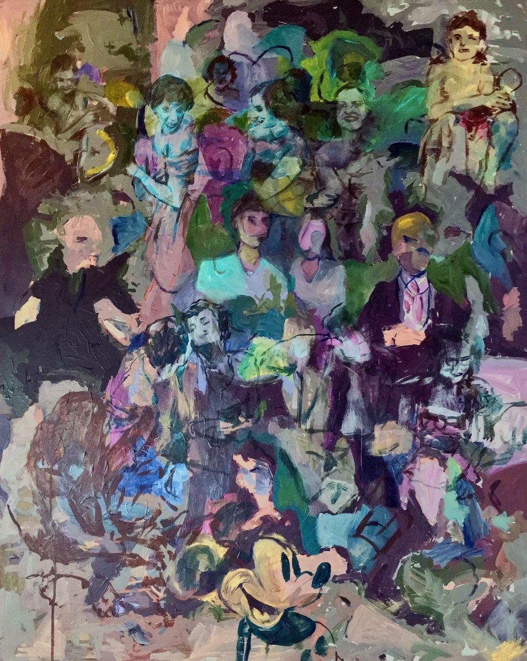 Gianluca Capozzi, Untitled, 2018, acrilic on canvas, 100x80 cm