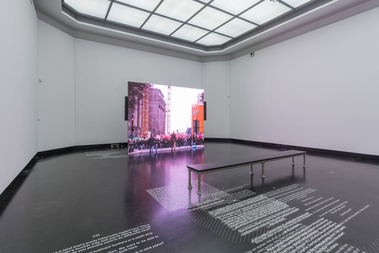 Hito Steyerl. Installation view at Akademie der Künste, Berlino 2019 © VG Bild-Kunst, Bonn 2019. Photo Andreas Franz Xaver Süß. Courtesy the artist & Andrew Kreps Gallery, New York & Esther Schipper, Berlino