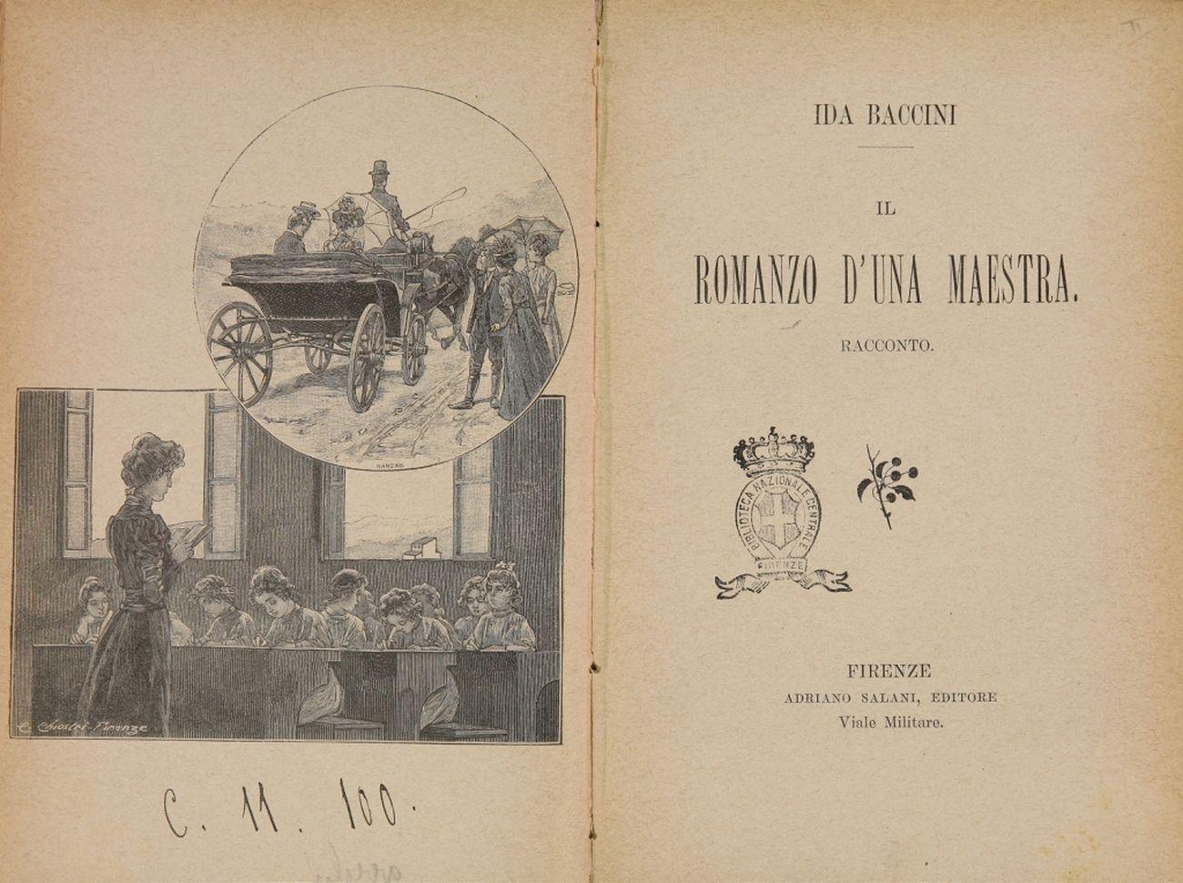 Ida Baccini, Il romanzo d'una maestra, 1901. Biblioteca Nazionale Centrale,  Firenze | Artribune