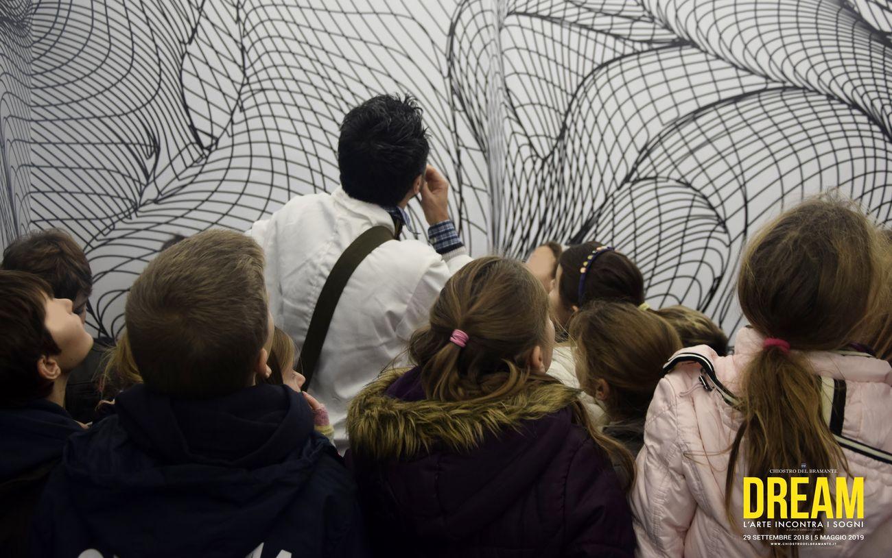 In visita a DREAM. L'arte incontra i sogni, un progetto Dart Chiostro del Bramante, Roma