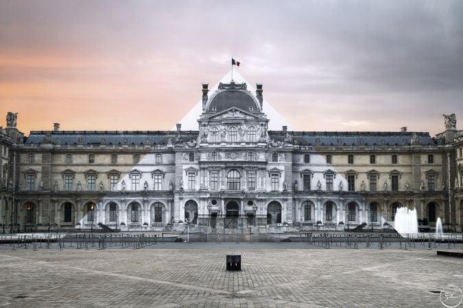 JR, il progetto del 2016 per la Piramide del Louvre. Ph. JR-art.net