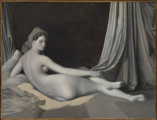 Jean- Auguste-Dominique Ingres, Grande odalisca (versione in chiaroscuro), 1830 ca. The Metropolitan Museum of Art, New York, Catharine Lorillard Wolfe Collection, Wolfe Fund, 1938