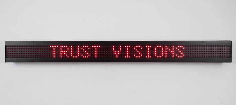 Jenny Holzer, LED sign with red diodes. Courtesy Sprüth Magers © 2019 Jenny Holzer member Artists Rights Society ARS NY VEGAP Photo Erik Sumption