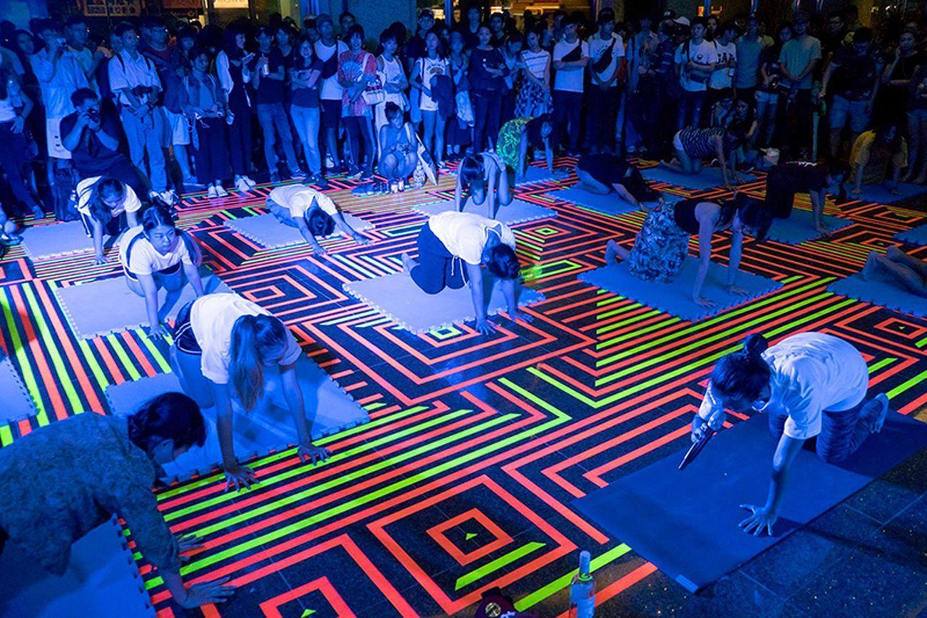 L'intervento è stato concepito come stage per le attività della Nuit Blanche Taipei © ECÒL Courtesy ECÒL