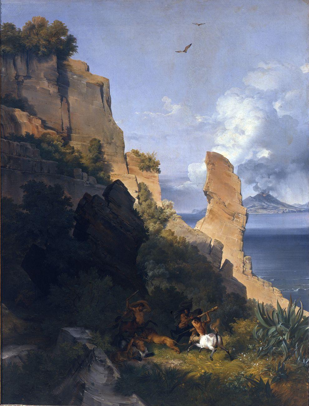 Lancelot Théodore Turpin de Crisse, Rocce sul mare con centauri, 1836. Venezia, Gallerie dell'Accademia