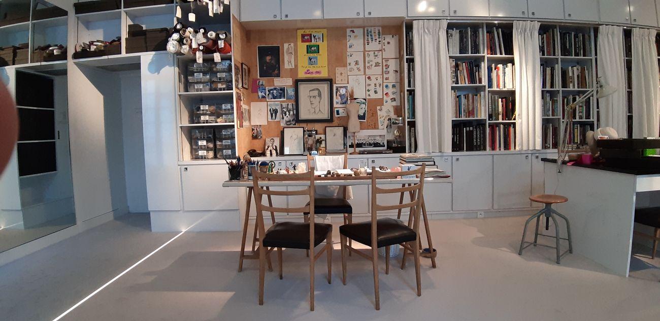 Lo studio di Yves Saint Laurent, dettaglio. Musée Yves Saint Laurent, Parigi