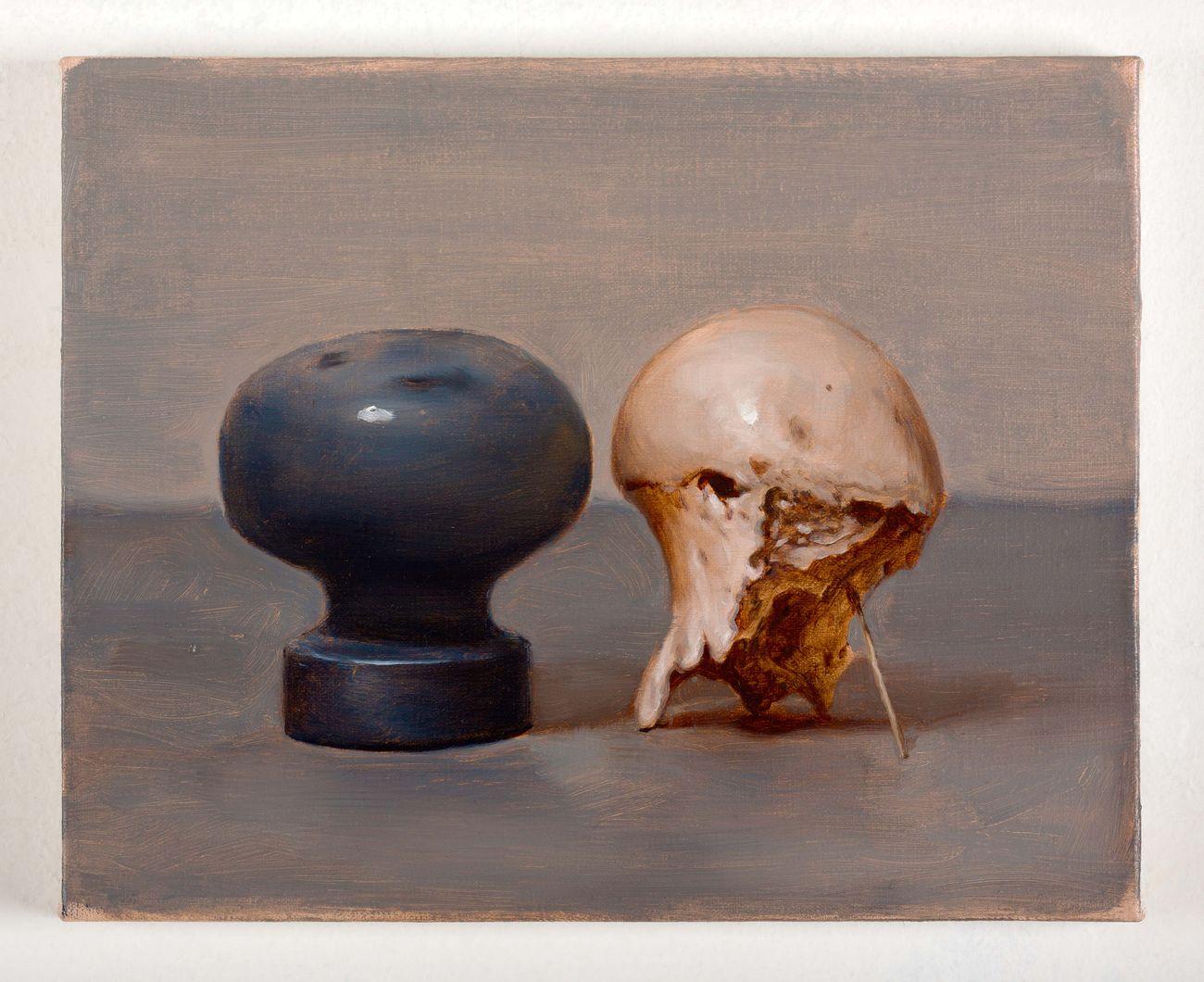 Manuele Cerutti, L'attesa delle regole (II), 2013, olio su lino, 24 x 30 cm, AmC Collezione Coppola. Photo Cristina Leoncini