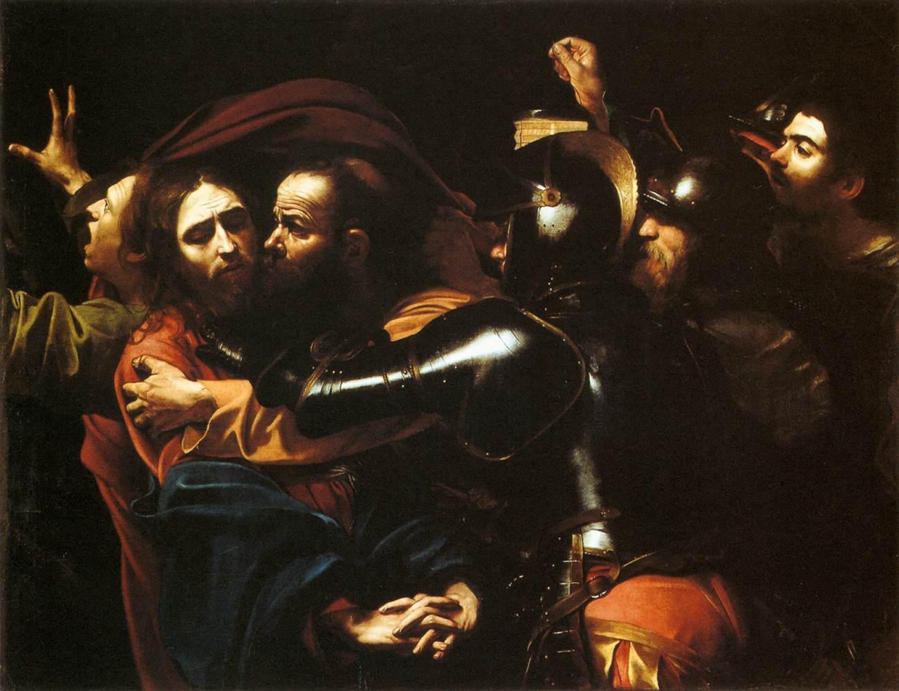 Michelangelo Merisi da Caravaggio, Cattura di Cristo, 1602. Galleria nazionale d'Irlanda, Dublino