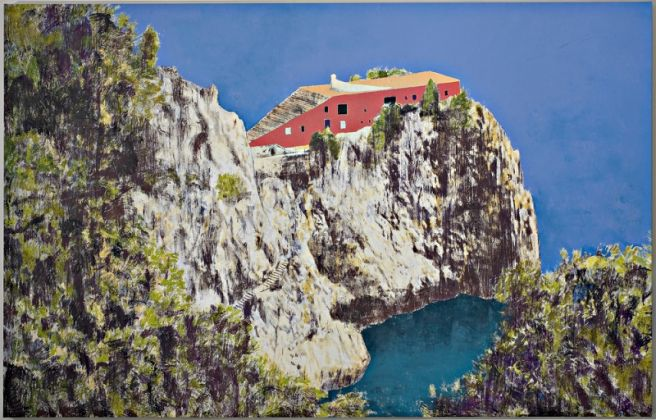 Enoc Perez Casa Malaparte (Day), 2008 olio su tela / oil on canvas 234 x 366 cm © the artist Ph. Carlo Vannini