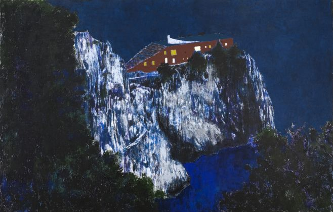 Enoc Perez Casa Malaparte (Night), 2008 olio su tela / oil on canvas 234 x 366 cm © the artist Ph. Carlo Vannini