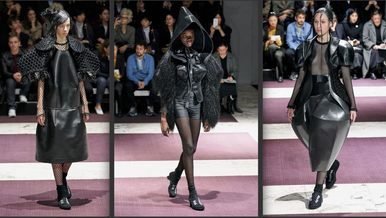 Rei Kawakubo per Comme des Garçons. Parigi Fashion Week, febbraio 2019