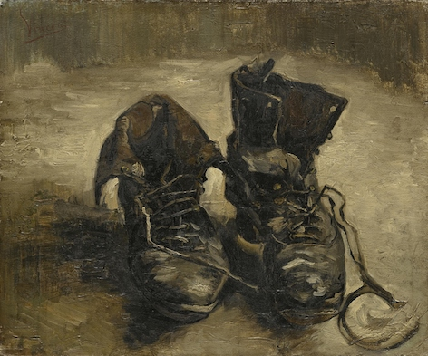 Van Gogh, Shoes, Paris, September November 1886. Van Gogh Museum, Amsterdam (Vincent van Gogh Foundation)