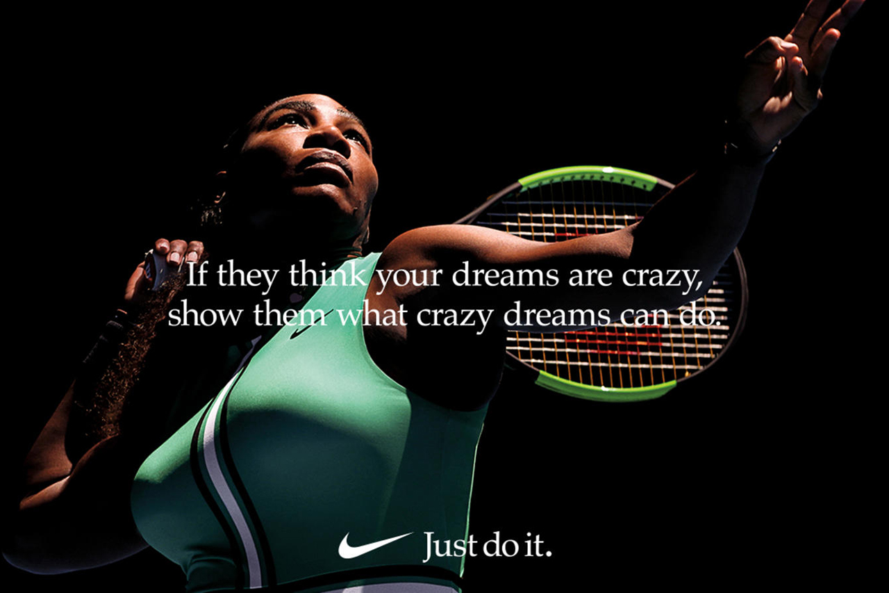 Nike, Serena Williams per Dream Crazier, la nuova campagna di Nike con cast tutto femminile
