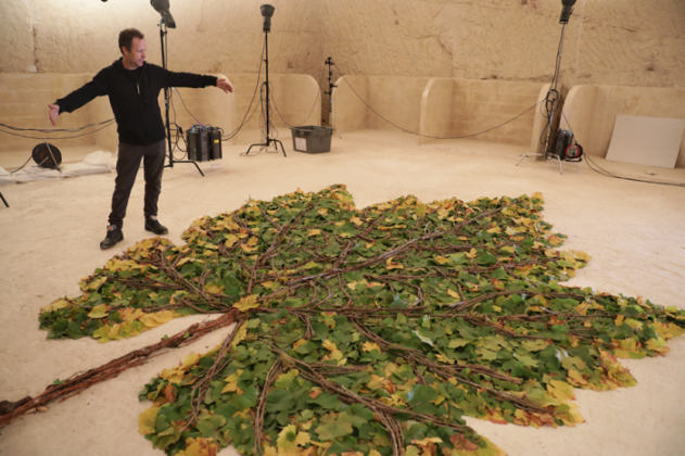 Ruinart, Vik Muniz, Reims, Crayeres, making of