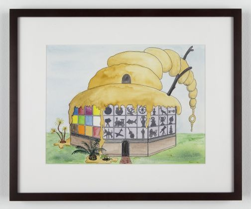 Mark Dion Balboa Park Centennial Pavilion 2012 colored pencil on paper in five parts overall dimensions: 35 1/2 x 49 1/2 inches; 90.2 cm Courtesy the artist and Tanya Bonakdar Gallery, New York / Los Angeles