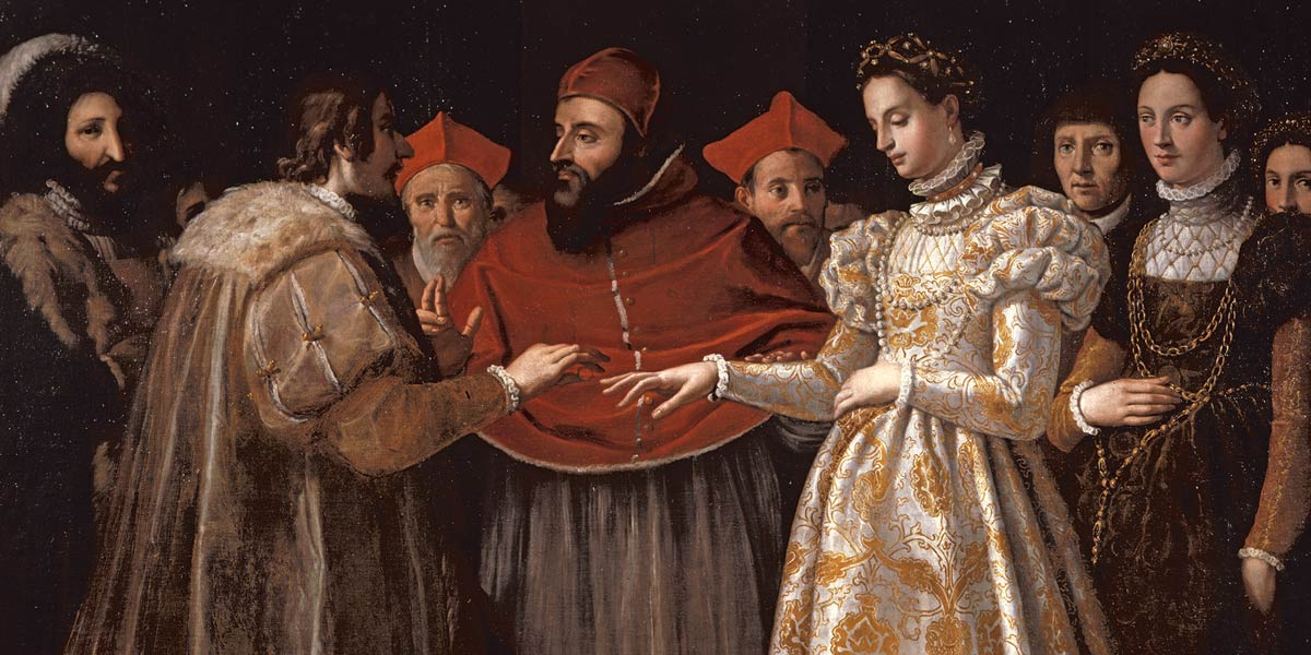 Jacopo Chimenti da Empoli Nozze di Caterina de' Medici con Enrico II di Francia