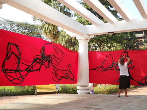 Patricia Geraldes, Red Garden, courtesy l'artista