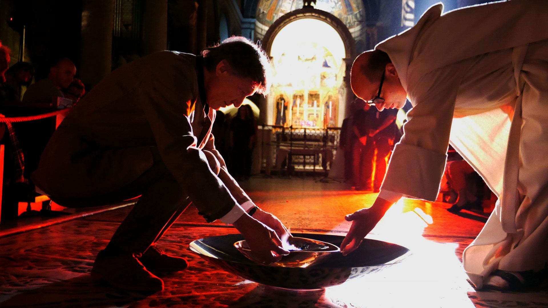 Lavanderia Bagnoli : Marco bagnoli all abbazia di san miniato al monte di firenze