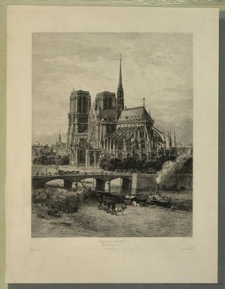 Alfred Alexandre Delauney Notre Dame, Eglise Cathédrale de Paris, between 1867 and 1890