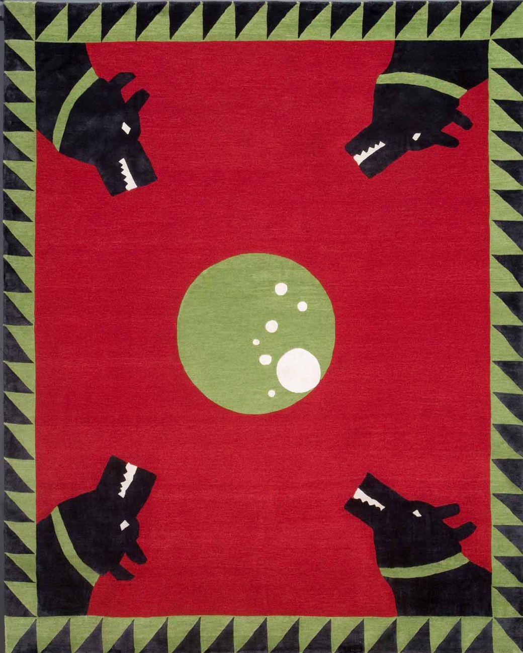 Angela de Nozza, Circle, cm 300 x 250. Tappeto annodato a mano con tecnica tibetana fatto realizzare dalla Galleria Boralevi di Firenze. Proprietà dell'artista