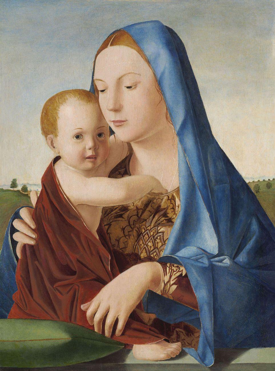 Antonello da Messina, Madonna col Bambino (Madonna Benson), 1475, olio e tempera su tavola trasportata su compensato, 58,1 x 43,2 cm. National Gallery of Art, Washington