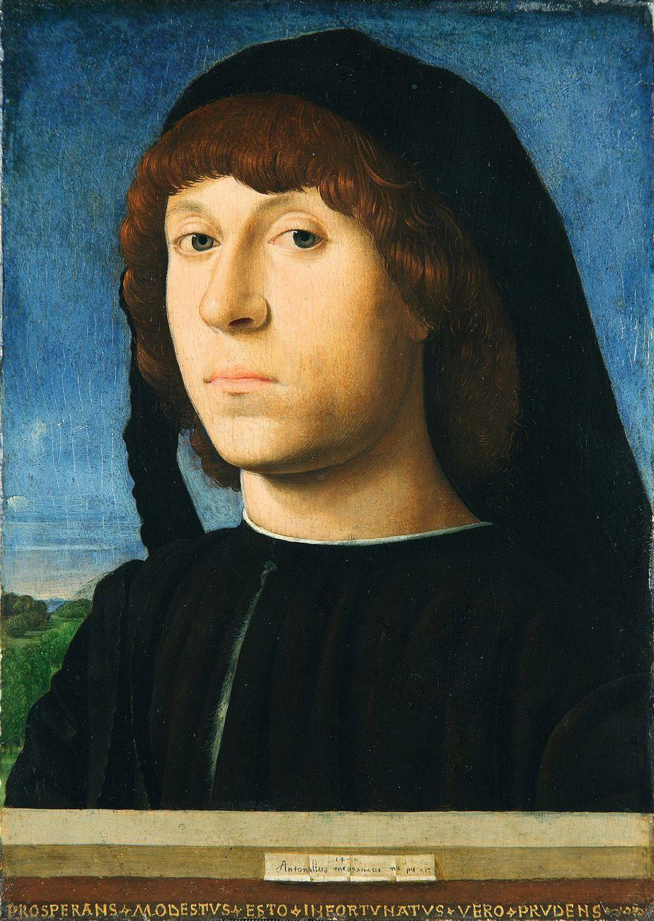Antonello da Messina, Ritratto di giovane, 1478, olio su tavola di noce, 20,4 x 14,5 cm. Staatliche Museen zu Berlin, Berlino