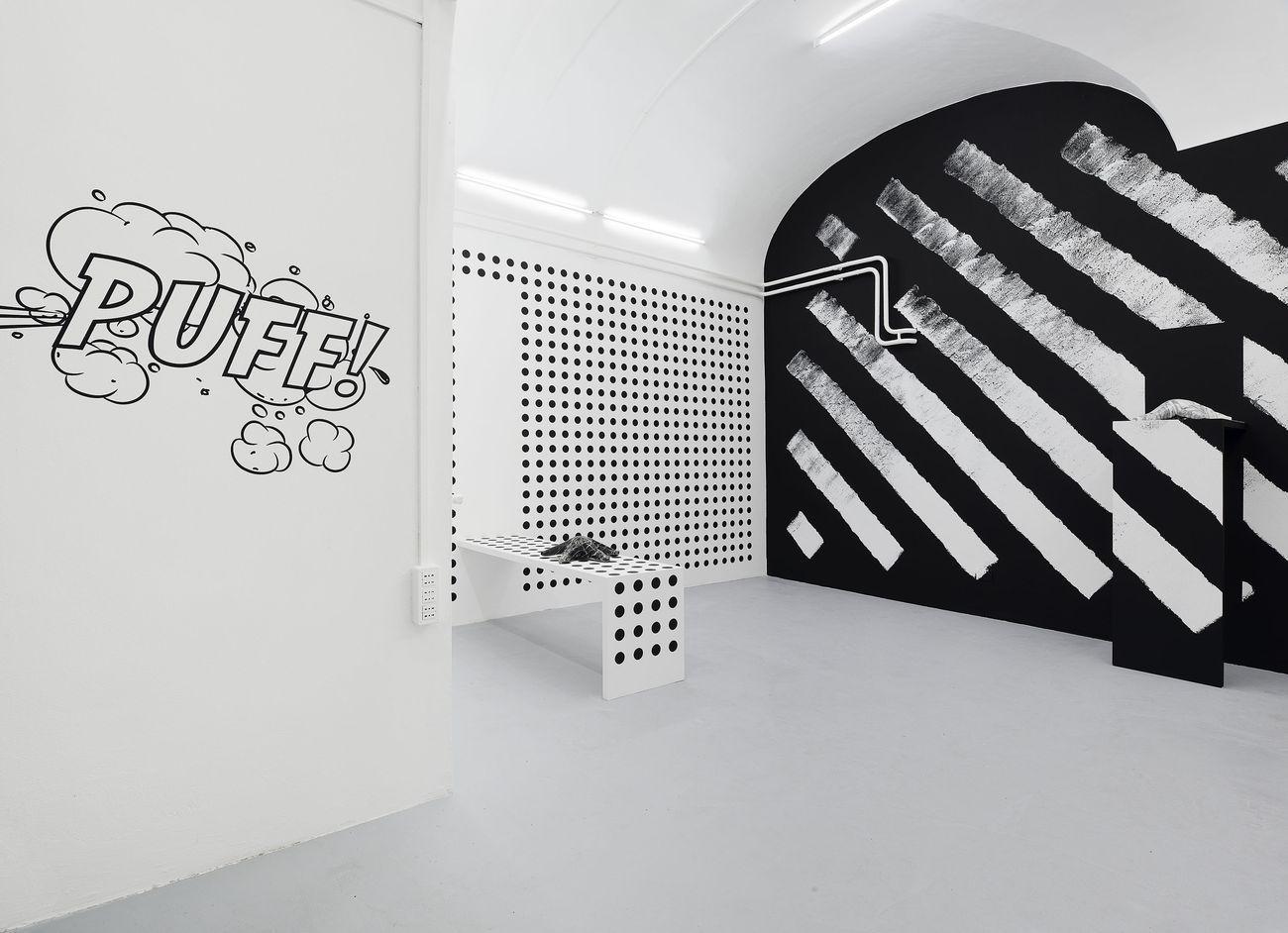 Claudia Comte. La Ligne Claire. Installation view at Basement, Roma 2017