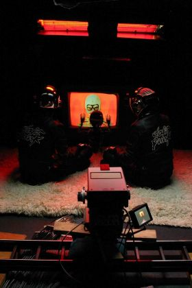 Daft Punk, Technologic set 2005. Photo Jeaneen Lund © Daft Trax 2005