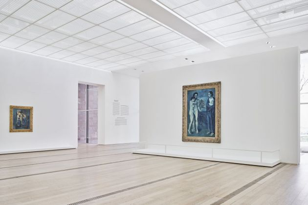 Der junge PICASSO – Blaue und Rosa Periode. Exhibition view at Fondation Beyeler, Riehen Basel 2019 © Succession Picasso 2019, ProLitteris, Zürich. Photo Mark Niedermann