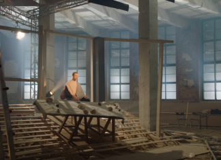 """Dmitry Krymov, video installation for the exhibition of the Pushkin Museum of Fine Arts """"There is a beginning in the end"""", a frame shot from the video, the property of the author, 2018"""