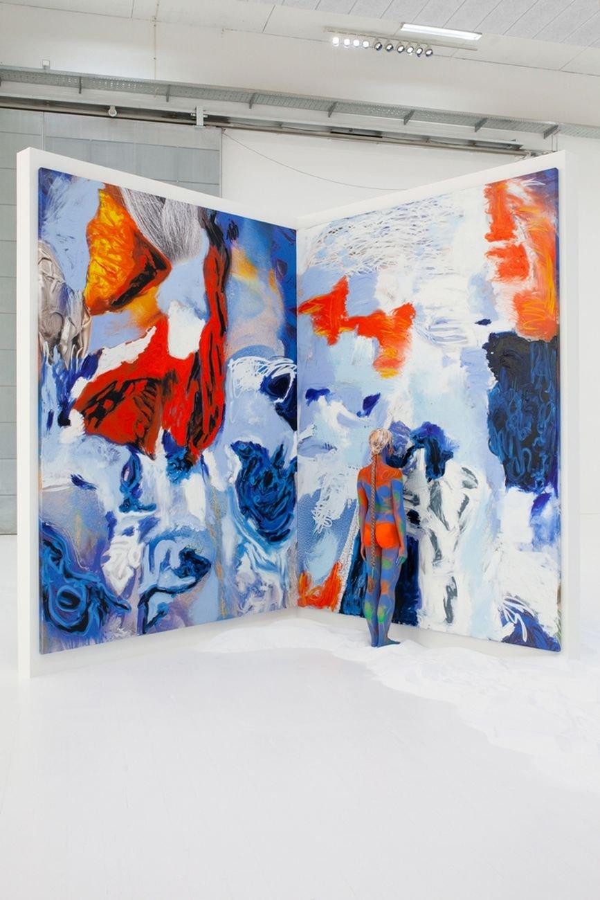 Donna Huanca, Lengua llorona, 2019. Copenhagen Contemporary, installation view. Courtesy Copenhagen Contemporary. Photo Elsa Kostic