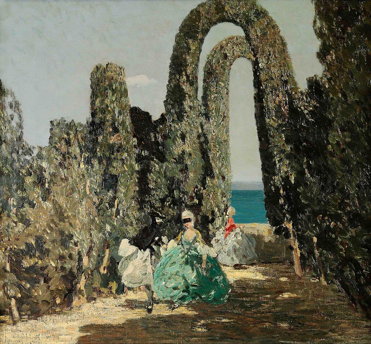 save off 54697 7036c Emma Ciardi, Dame mascherate, 1909 ca. Courtesy Galleria ...