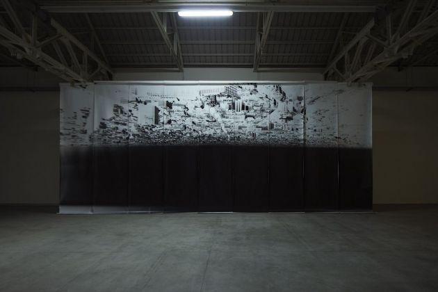 Giorgio Andreotta Calò, Città di Milano, 2019. Installation view at Pirelli HangarBicocca, Milano 2019. Commissioned and produced by Pirelli HangarBicocca. Courtesy of the artist and Pirelli HangarBicocca. Photo Agostino Osio